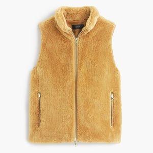 New JCREW Size XS Plush Fleece Excursion Vest